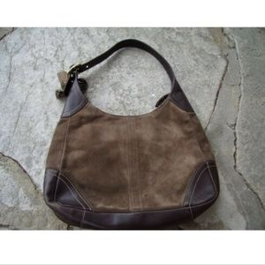 Coach Brown Suede Leather Hobo  Bag / Purse